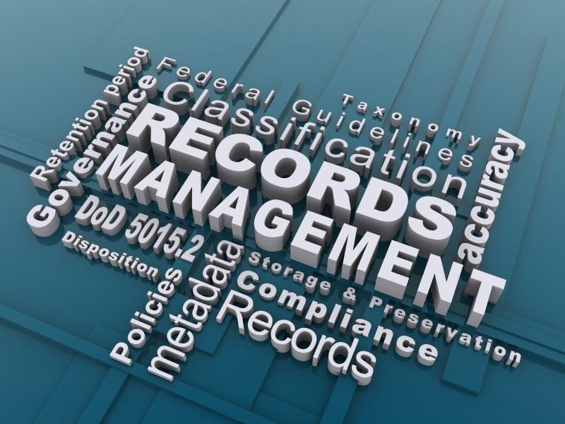 Records Management word cloud